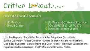 Critter Lookout - New PET LOST & FOUND Site