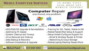PC/MAC Setup-Repair-Upgrade, Virus Removal, OS Install, Training