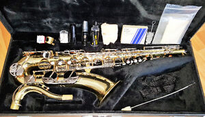 alto and tenor saxophones