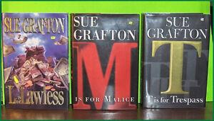 Lot of 3 Sue Grafton Hardcover Books
