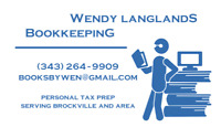 Tax Preparation - Wendy Langlands Bookkeeping