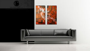 - ORIGINAL PAINTING / ARTWORK - Red Narwhals London Ontario image 2