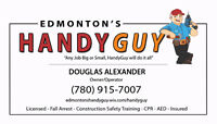 **HONEST HANDYMAN (Licensed & Insured) $45/hr - 780.915.7007**