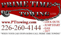 Tow Truck, Wrecker Operator    Prime Time Towing Ltd.