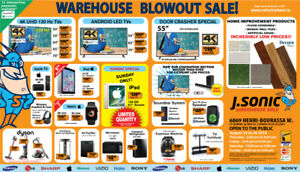 J Sonic's 3rd Annual Warehouse Electronics SALE..! 30-50% OFF