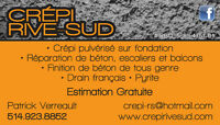 crepi fissure drain francais pyrite excavation inspection drain