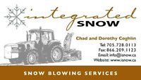 SNOW BLOWING SERVICES - SNOW REMOVAL 2015-2016