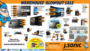 J Sonic's May 26-27-28 Warehouse Blowout Sale