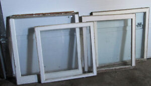 Antique Wood Framed Glass Windows from century home Kawartha Lakes Peterborough Area image 3