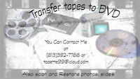 Transfer your home movie tapes to disk