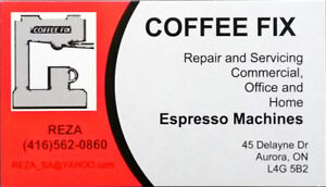 Espresso Coffee Machine Could be FIXED with $65