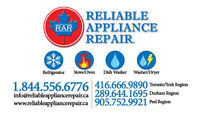 Any Major Appliance $159.99 ==> Complete Repair.