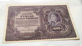 Various world banknotes.
