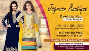 Selling, Stitching & Alterations of Punjabi & Boutique Suits