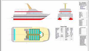 Henely 58' x 24' fast catamaran ferry / whale watching