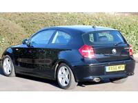 2006 56 BMW 2.0 120d Diesel SE Automatic gearbox, 3 Doors, Black, 81k Mileage