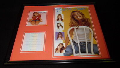 Britney Spears Framed 1999 Baby One More Time CD & Poster Display