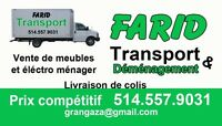 Transport -déménagement pas cher 514-557-9031 FARID