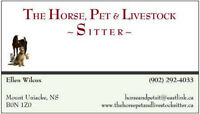 "The Horse, Pet & Livestock Sitter does MORE than just ""baby""sit"