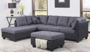 SECTIONAL SOFA WITH OTTOMAN ONLY 649 !!!