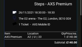 Steps Tour Tickets - O2 Arena