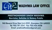 Litigation, Immigration & Real Estate Lawyer. Ph: 905-781-5541