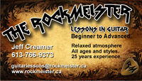 RockMeister Guitar Lessons, Laid Back And Relaxed!