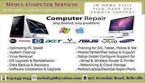 Computer Service/Repair, Virus Removal, Setup & Training
