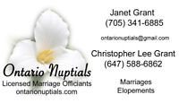 Ontario Nuptials Licensed Marriage Officiants
