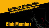 BC Placer Mining Club - $50 off!   Gold Claims near Cranbrook