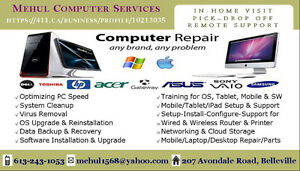 Computer Service/Repair, Virus Removal, Setup & Training