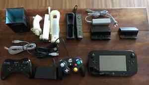 Wii U Black 32GB - Modded - Bonus Accessories - 64GB SD 500GB HD