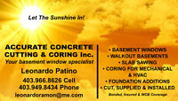 Accurate Concrete Cutting and Coring Inc. LET THE SUNSHINE IN!