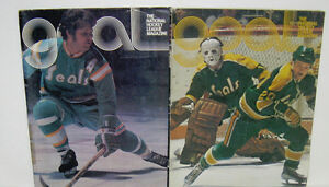 4 DIFFERENT NHL 1970'S GOAL MAGAZINES ~ BUFFALO SABRES