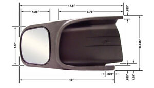 Extended towing mirrors for Dodge Ram 2004