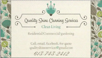 Quality Shines Cleaning Services