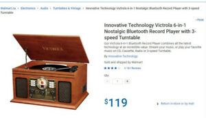Victrola Nostalgic Classic Wood 6-in-1 Bluetooth Turntable