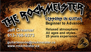 RockMeister Guitar Lessons, Laid Back and Relaxed