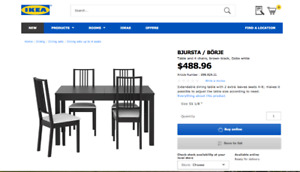 Dining for Table set from IKEA