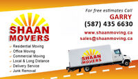 SHAAN MOVERS  $69 Hour With 2 Movers & Truck- Cell-587 435 6630