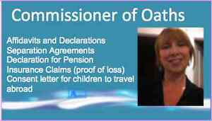 COMMISSIONER OF OATHS - Mobile & Fast Service - No Extra Charge
