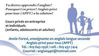 Anglais privé pour tous (APPT) - Cours d'anglais privés