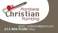 AFFORDABLE PLUMBER & DRAIN CLEANING 613-806-PLUM(7586)