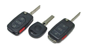VW Flip Key Keyless Entry Remote Case Shell Uncut Blank Blade