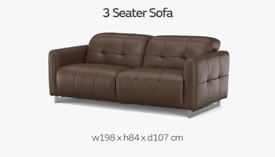Sofology Marmont 3 seater recliner and Single seater recliner