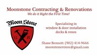MOONSTONE CONTRACTING & RENOVATIONS