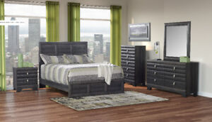 Brand new contemporary grey 7 piece queen bedroom set $1148 only