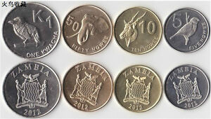 Zambia 2012 year animal Coin set 4PCS