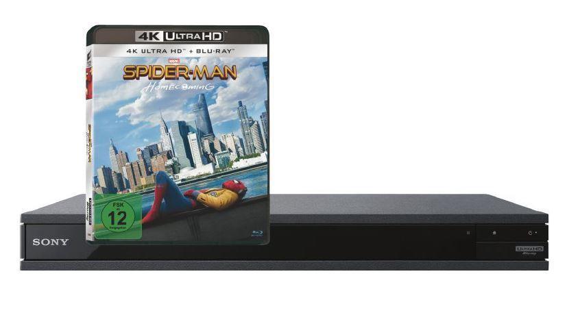 "Sony UBP-X800 4K Blu-ray Player + 4K-Bluray ""Spiderman Homecoming"", NEU + OVP"
