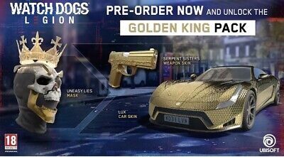 (Xbox One) (PS4) Watch Dogs Legion - Golden King Pack + Emerald...